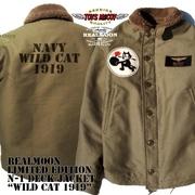 """REAL MOON別注 TOYS McCOY No.TMJ1934RM N-1 DECK  JACK FELIX""""NAVY WILD CAT 1919 """""""