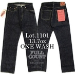No,1101W  FULL COUNT JEANS MIDDLE STRAIGHT 13.7oz