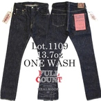 No,1109W  FULL COUNT JEANS 1109 SLIM 13.7oz