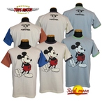 """No.TMC1750 TOYS McCOY McHILL SPORTS WEAR RINGER TEE MICKEY MOUSE """"SUPER STR USA"""""""