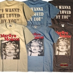 "No.TMC1920 TOYS McCOY  MARILYN MONROE TEE ""I WANNA BE LOVED BY YOU"""