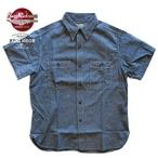 No.BR35856 BUZZRICKSON'S BLUE SHAMBRAY S/S WORK SHIRT