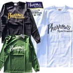 "No.19WPLT1 PHERROW'S LS/TEE ""Phherrow's""Sportswearロゴプリント長袖T"