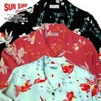 "No.SS28304 SUN SURF LONG SLEEVE HAWAIIAN SHIRT ""GOLD FISH WITH LUCK"""